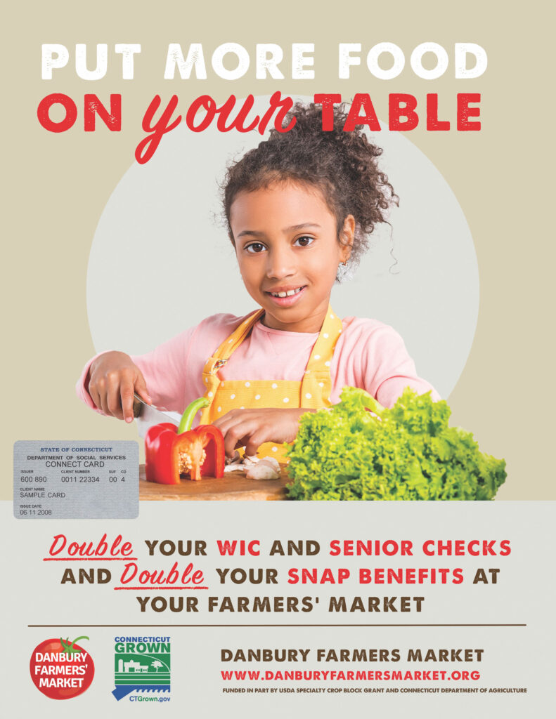 Put more food on your table with double SNAP & WIC benefits